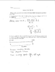 Quiz 2 Solution on Elementary Calculus