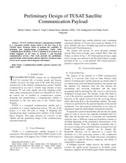 Preliminary Design of TUSAT Satellite Communication Payload
