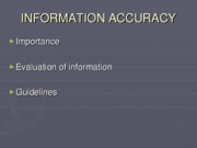 INFORMATION+ACCURACY