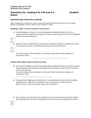 Questionnaire Assignment 6.doc
