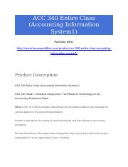 ACC 340 Entire Class (Accounting Information System1).docx