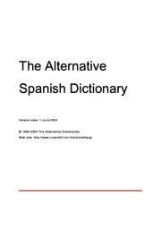 Alternative Spanish Dictionary