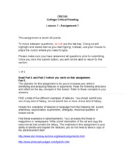 CRE101 - Lesson 7 - Assignment 7