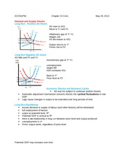 "study notes on ""demand and supply shocks"""