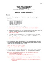 Tutorial 3 Suggested Answers