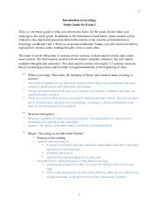 Soc Exam I-Study Guide