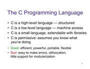 Lecture: Introduction to C