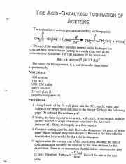 'The-Acid-Catalyzed-Iodination-of-Acetone'-Laboratory-Exercise-Procedures