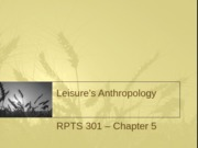 16 - Leisure's Anthropology