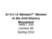 Lecture+06+Arent+I+a+Woman
