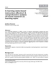Is Learning styles-based instruction effective?.pdf