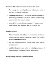 Definition of Duration in financial mathematics Notes