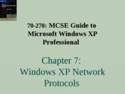 Windows Xp Professional Chapter 07