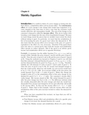 8. Slutsky Equation - Solutions