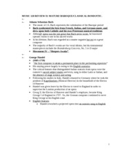 Music 120 STUDY GUIDE II W 2011
