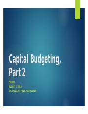 FIN 571 - Capital Budgeting Assignment, Part 2.pptx