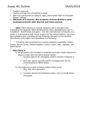 Essay #2 Outline & Notes