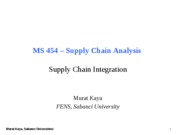 MS454-11-Supply Chain Integration