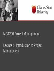 MGT290 Lecture 1