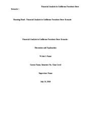 fin 571 guillermo financial analysis week View essay - fin 571 week 1 from fin 571 571 at university of phoenix running head: financial ratio analysis financial ratio analysis fin/571 the university of phoenix mr joey porter december 11.