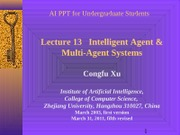 2012AI_Chp13-Intelligent Agent(by XCF)