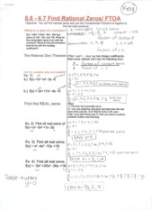 Rational Zeros Notes
