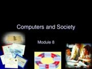 Chapter 8 - Computers and Society