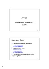Wastewater Characteristics_Quality