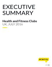 Health and Fitness Clubs - UK - July 2016 - Executive Summary(2)