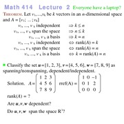 Lecture 2 on Linear Programming