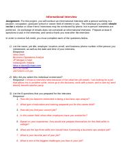 Informational Interview Worksheet and Certification.doc