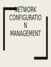 Network Configuration Management.ppt