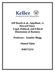 Ahmed Nijim-Jeff Roach et al., Appellant- Week 3 case