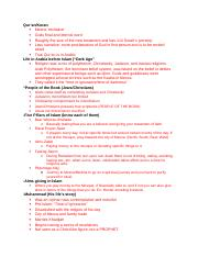 Islam Review Outline.doc