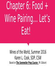 Chapter 06 Food & Wine Pairing 062116