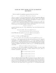 2 - First Order Scalar Quasilinear Equations