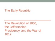 4. The Early Republic