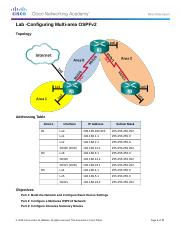 9.2.2.8 Lab - Configuring Multi-area OSPFv2.docx