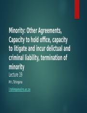 Lecture 19 Minority -Other Agreements.pptx