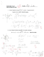 MATH 203 STOCK TEST 4 SUMMER 2013