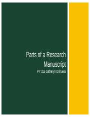 Parts of A Research Manuscript.ppt