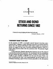 Stocks for the Long Run, 4th Ed., Ch.s 1 and 2Chapter 1 and Chapter 2