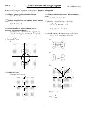 Math 1314 Test2  Review