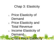 Week 4 tutorial note-chap 3 elasticity with answer