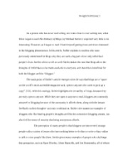 Writing Rough Draft Essay 1