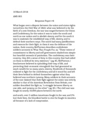 Civil War- Response Paper 4
