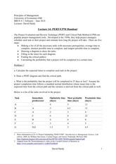 Mgmt Lecture 14- PERT CPM handout