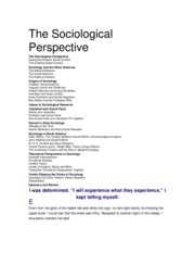 Sociology A Down To Earth Approach Chap 1-10