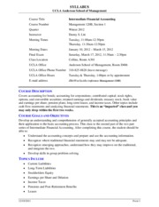 Syllabus for Management 120B - Winter 2012
