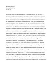 Worldview Essay- Brielle Dove-Smart .docx